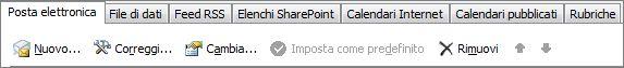 Aggiungere un nuovo account di Outlook 2010