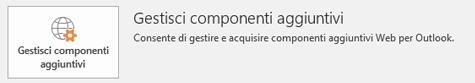 Fare clic su Gestisci componenti aggiuntivi