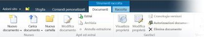 Barra multifunzione dei documenti