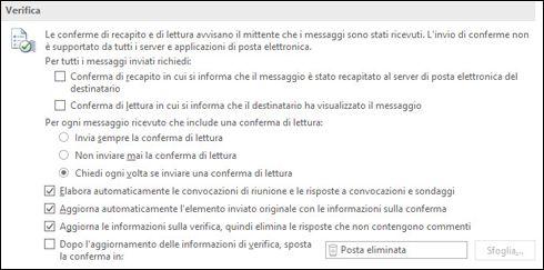Aggiungere informazioni di verifica ai messaggi.