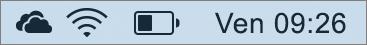 Icona OneDrive nella barra delle applicazioni Mac