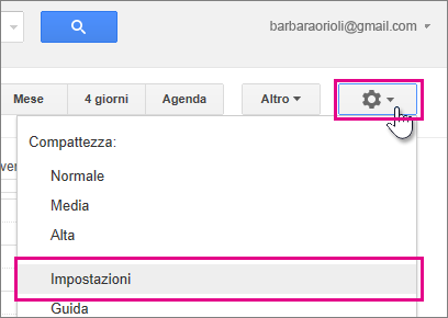 Google Calendar - Impostazioni - Impostazioni