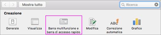 Personalizzare la barra multifunzione.