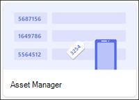 Modello di elenco Asset Manager