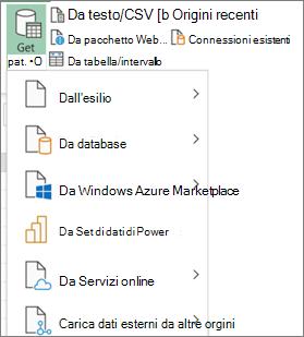 Importare comandi nell'interfaccia utente