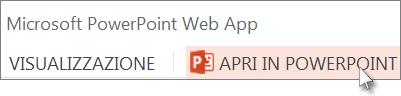 Aprire la presentazione nell'applicazione desktop PowerPoint
