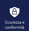 App Sicurezza e conformità nel menu delle app di Office 365