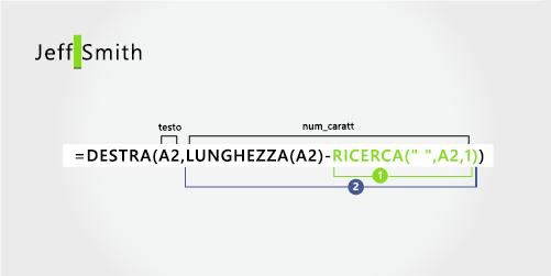 Formula per l'estrazione di un cognome