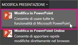 Modifica nell'applicazione desktop PowerPoint