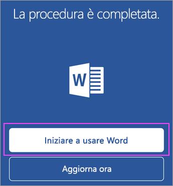 Toccare Inizia a usare <nome applicazione>.