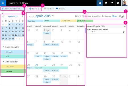 Usare il calendario per gestire le proprie riunioni e altri eventi.