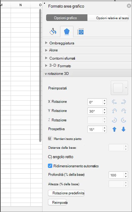 Riquadro formato area grafico