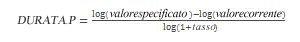 Equazione di DURATA.P