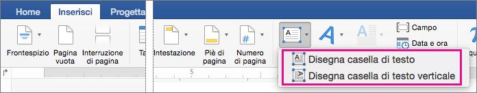 Fare clic su casella di testo per inserire una casella di testo con testo orizzontale o verticale.