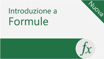 Introduzione alle formule in Excel
