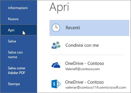 Accedi - Desktop