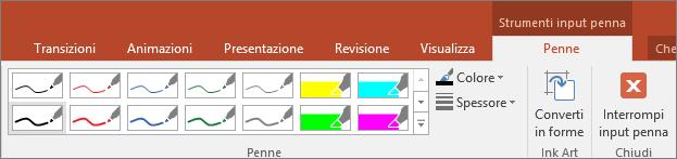 Opzioni di Stile penna in Office