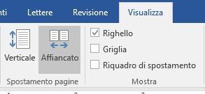 Visualizzazione Orizzontale di Word 2016