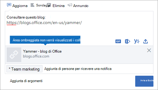 L'anteprima del collegamento non sarà visibile in modalità di documento di Internet Explorer 10