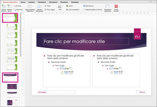 Presentazione con due schemi diapositiva