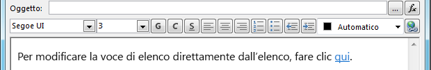 Definire la schermata del messaggio di posta elettronica dopo l'inserimento di una variabile