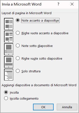 Casella di Microsoft Word invia a