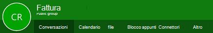 Barra multifunzione di gruppi in Outlook sul web