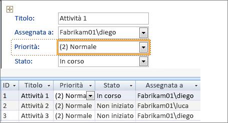 Creare una visualizzazione con Microsoft Access