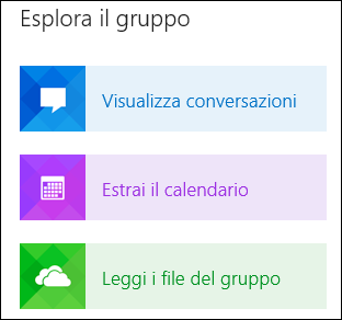 Esplorare un gruppo in Outlook