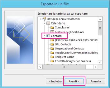 Esportare Calendario Outlook.Esportare I Contatti Da Outlook Supporto Di Office