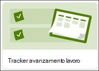 Tracker elenco avanzamento lavoro