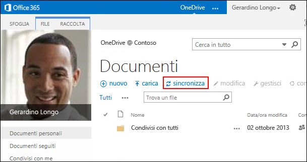 Raccolta di OneDrive For Business in Office 365