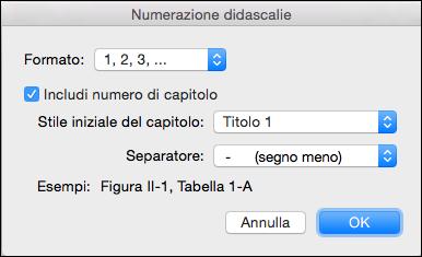 Aggiungere automaticamente i numeri di capitolo per le didascalie in Word
