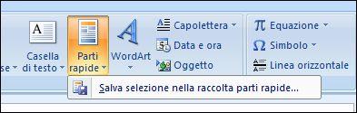 Parti rapide di Outlook 2007