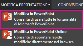 Comando Modifica in PowerPoint