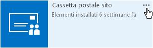 App Cassetta postale sito, con il pulsante ... per ulteriori informazioni.