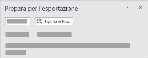 Nel riquadro prepara per esportare selezionare Esporta in flusso.