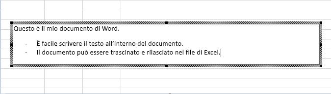 Questo oggetto incorporato è un documento di Word.
