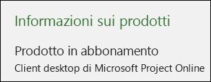 Informazioni su Project per il client desktop di Project Online