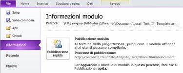 Moduli elenco di InfoPath per SharePoint