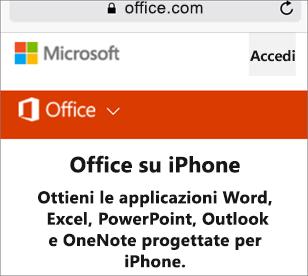 Passare a office.com.
