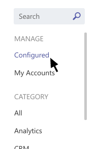 Opzione configurata nel menu connettori