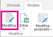 Modificare la pagina