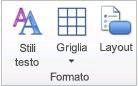 Elemento grafico gruppo Formato