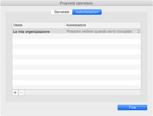 Finestra delle proprietà del Calendario se è disponibile la sincronizzazione REST.