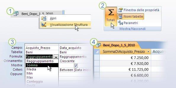 Utilizzo di una formula in una query