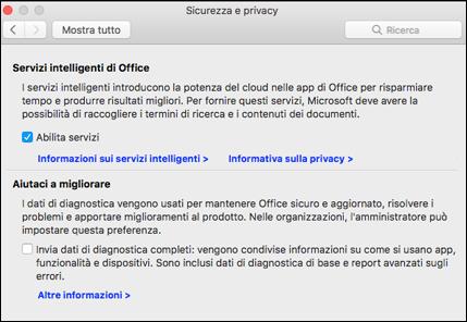 Abilitare le funzionalità intelligenti nel Mac