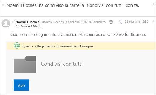Posta elettronica di Office 365 Invia collegamento