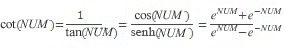 equazione COTH
