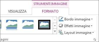 posizione di strumenti immagine